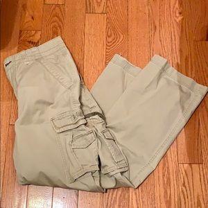 Unionbay Men's Cream Khaki Cargo Pants
